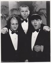 3 Stooges Tuxedos  Moe Larry Curly 65 Vintage 8X10 Matted BW TV Photo - $6.95