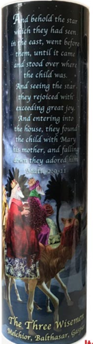 Three wisemen   led flameless devotion prayer candle