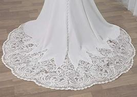 Luxury Backless Lace Appliques Mermaid Wedding Gown Ballroom Dress for Bride image 4