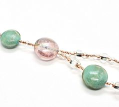 Necklace Antica Murrina Venezia Lampwork Murano Glass Charm Bead Purple Green image 6