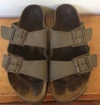 Birkenstock 40 Arizona Suede Leather Slip On Unisex Sandals Mens 7 Ladies 9 - $87.50