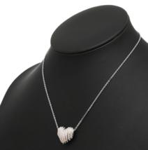 Swarovski Crystal Authentic Pendant Necklace Heart EXPLORE Signed Reversible image 7