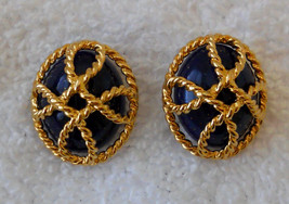 Avon Nautical Rope Style Convertible Pierced Earrings Hypo Allergenic Studs VTG  - $19.75