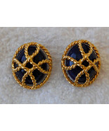 Avon Nautical Rope Style Convertible Pierced Earrings Hypo Allergenic St... - $19.75