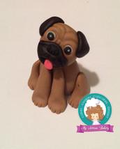 Pug Dog fondant cake topper - $33.00