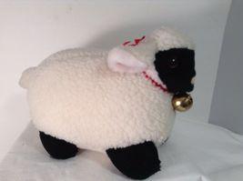 "Mary Meyer Plush Fluffy Lamb Sheep WHite & Black 14"" Lgth 8.25"" tall CUTE image 6"