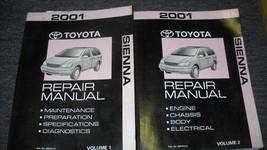 2001 Toyota Sienna Van Service Shop Repair Manual Set Oem 2 Volume Toyota - $69.29
