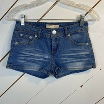 No Boundaries Blue Denim Jean Shorts Size 1 - $10.81