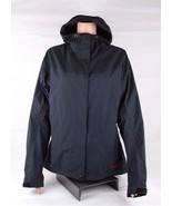Marmot womens jacket coat rain vent hoodie full zipper polyamide black s... - $43.89