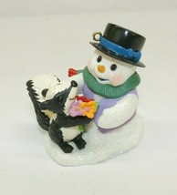 "Hallmark Keepsake 2006 ""Snow Buddies"" Snowman & Skunk Ornament - $8.90"