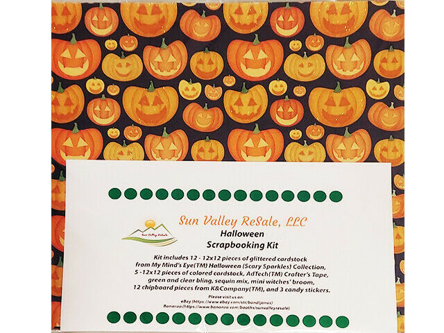 Sun Valley ReSale Halloween Scrapbooking 12x12 Kit, LOADED!