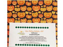 Sun Valley ReSale Halloween Scrapbooking 12x12 Kit, LOADED! image 1