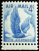 1954 4c Eagle in Flight, Air Mail Scott C48 Mint F/VF NH - $0.99