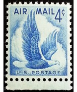 1954 4c Eagle in Flight, Air Mail Scott C48 Mint F/VF NH - $0.99