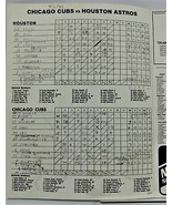 Title1983 Chicago Cubs Houston Astros Official Scorecard Wrigley Field 0... - $7.42