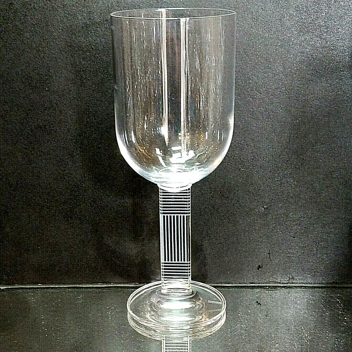"1 (One) KENNETH COLE REACTION ""Animal Magnetism"" All Purpose Wine Glass- Signed"