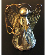 Vintage Christmas Metal Angel Ornament - $9.90