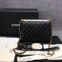 BNIB BRAND NEW AUTH CHANEL 19SS PEARL BLACK LAMBSKIN QUILTED FLAP BAG RECEIPT  image 3