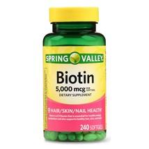 Spring Valley Biotin Softgels, 5000 Mcg, 240 Count - $16.82