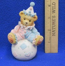 Cherished Teddies Wally Figurine Youre The Tops With Me Clown Bear on Ball 1995 - $7.91