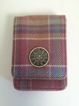 Longaberger Business Card Holder Toboso Plaid Rare - $10.84