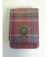 Longaberger Business Card Holder Toboso Plaid Rare - $10.84