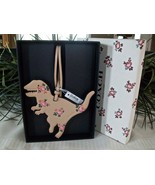 Coach Boxed Leather Printed Floral Rexy Dinosaur Charm Ornament 27418 Be... - $26.00