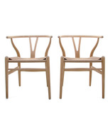 CH24 - WISHBONE CHAIRS (pair) by Hans J Wegner, Carl Hansen & Son, 1949 - $1,659.00