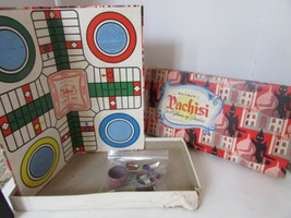 Vtg Whitman's Pachisi Game Of India W/PLASTIC Cups & Wood Game PIECES-BOARD - $7.87
