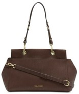 Calvin Klein Sonoma Bubble Lamb Novelty Satchel (Walnut) - $125.14