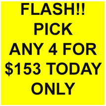 WED-THURS FLASH PICK ANY 4 FOR $153  DEAL BEST OFFERS DISCOUNT MAGICK  - $153.00