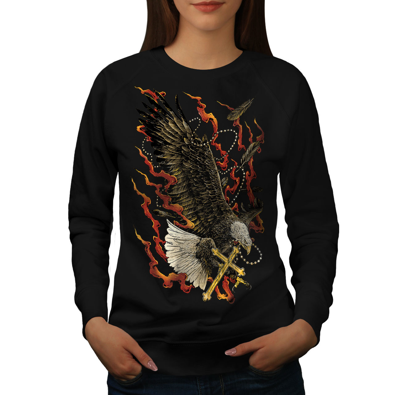 Primary image for Eagle Cross Fire Fashion Jumper  Women Sweatshirt