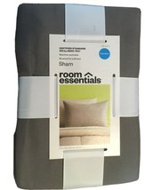 "NEW Room Essentials Pillow Sham Gray Standard Size 20"" x 26"" image 2"