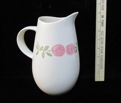 Pitcher Vernon Ware Rose A Day Pattern Ceramic Pottery Pink Flowers Vint... - $14.84