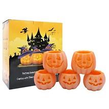 DDXJ Jack O' Lantern Lights, Pumpkin Real Wax Halloween Candles with 6H ... - $34.42