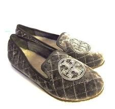c-1242970 Neu Tory Burch grau Hartzinn gesteppt Billy Pantoffeln Schuh Größe US - $129.19