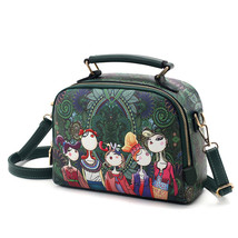 5 cartoon ladies handbag shoulder bag female handbag - $28.00