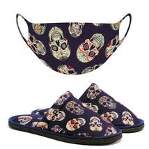 Chochili Men Trendy Big Skull Home Garage Kitchen Dorm Slippers and Mask... - $10.99