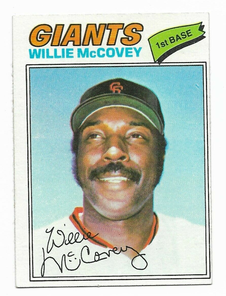 1977 Topps #547 Willie McCovey, San Francisco Giants