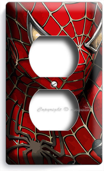 AMAZING SPIDERMAN SUPERHERO OUTLET WALL PLATE COVER BOYS ROOM BEDROOM HOME DECOR