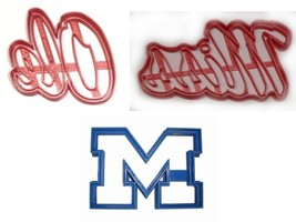 Ole Miss University Of Mississippi Athletics Set Of 3 Cookie Cutters USA... - $6.99