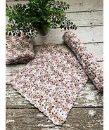 Organic Cotton Dish Cloths Beige Oatmeal Kitchen Dishcloths Set of 3 Han... - $19.99