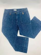 Christopher & Banks Womens Jeans Capri 6 Blue Straight Dark Wash - $30.39