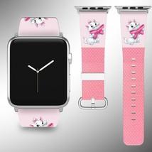 Disney Aristocats Apple Watch Band 38 40 42 44 mm Fabric Leather Strap 01 - $24.97