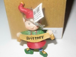 Christmas Ornaments WHOLESALE- Russ BERRIE- #13822- 'BRITTNEY'- (6) - New -W8 - $5.83
