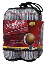 Rawlings Official League Recreational Use Baseballs, Bag of 12, OLB3BAG12 - $29.95
