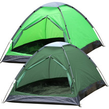 2 Person Waterproof Foldable Tent People Camping Outdoor Hiking Army Green - $18.01