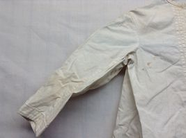 Vintage Off White Linen Button Up Baby Dress  image 5