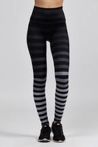K-Deer Women's Black/Grey Jody Stripe Full Length Leggings, XS-4X image 3