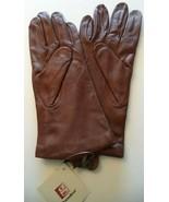 Ladies {Grandoe,100% Cashmere Lined} Leather Gloves*,Russet Brown,Medium - $38.61